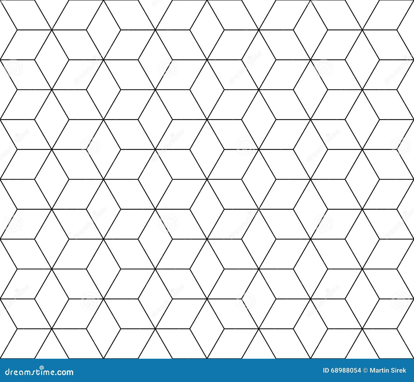Vector el modelo sagrado inconsútil moderno de la geometría, extracto blanco y negro