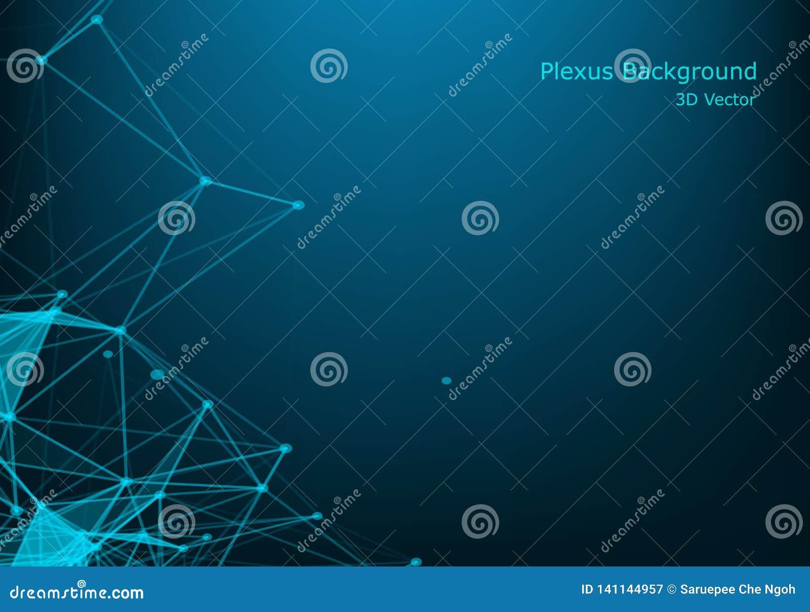 Vector el paisaje digital futurista abstracto con los puntos y las estrellas de las partículas en horizonte conexión digital geom