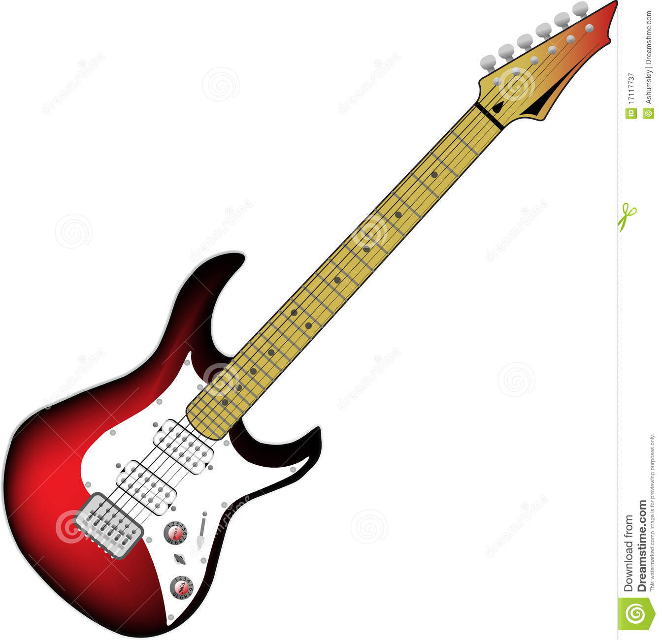 Vector Electric Guitar Royalty Free Stock Photography ...