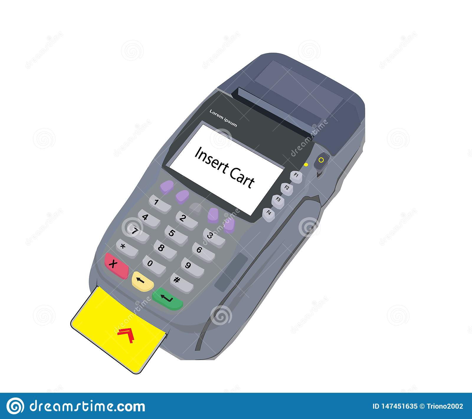 Vector electronic data capture machine with a white background