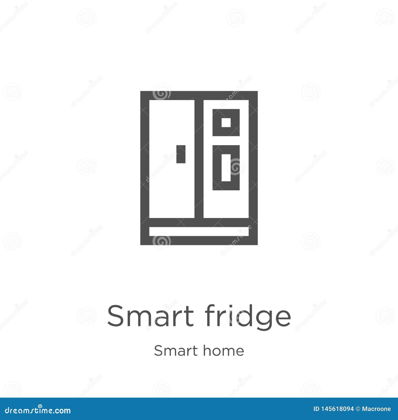 Vector elegante del icono del refrigerador de la colección casera elegante Línea fina ejemplo elegante del vector del icono del e