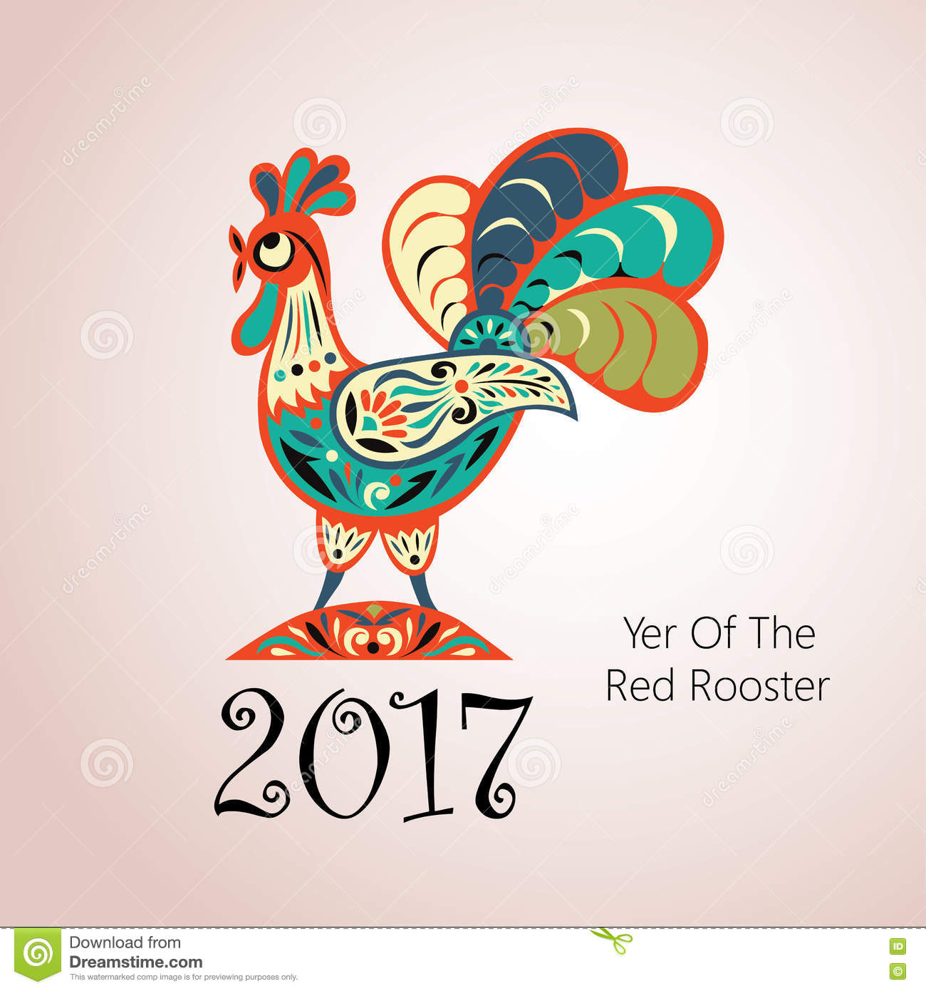 Vector Element For New Year Stock Vector Illustration Of Card