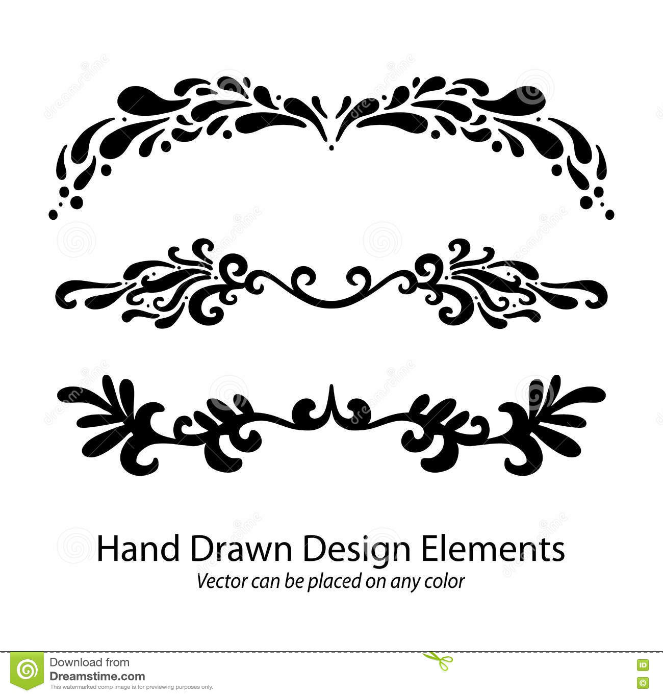 vector hand drawn calligraphic - photo #26