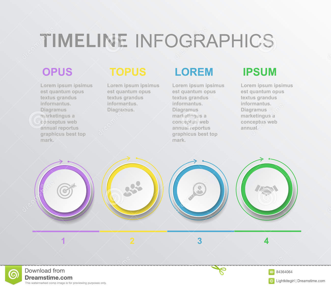 Vector Elements Timeline Infographic Template For Diagram Graph