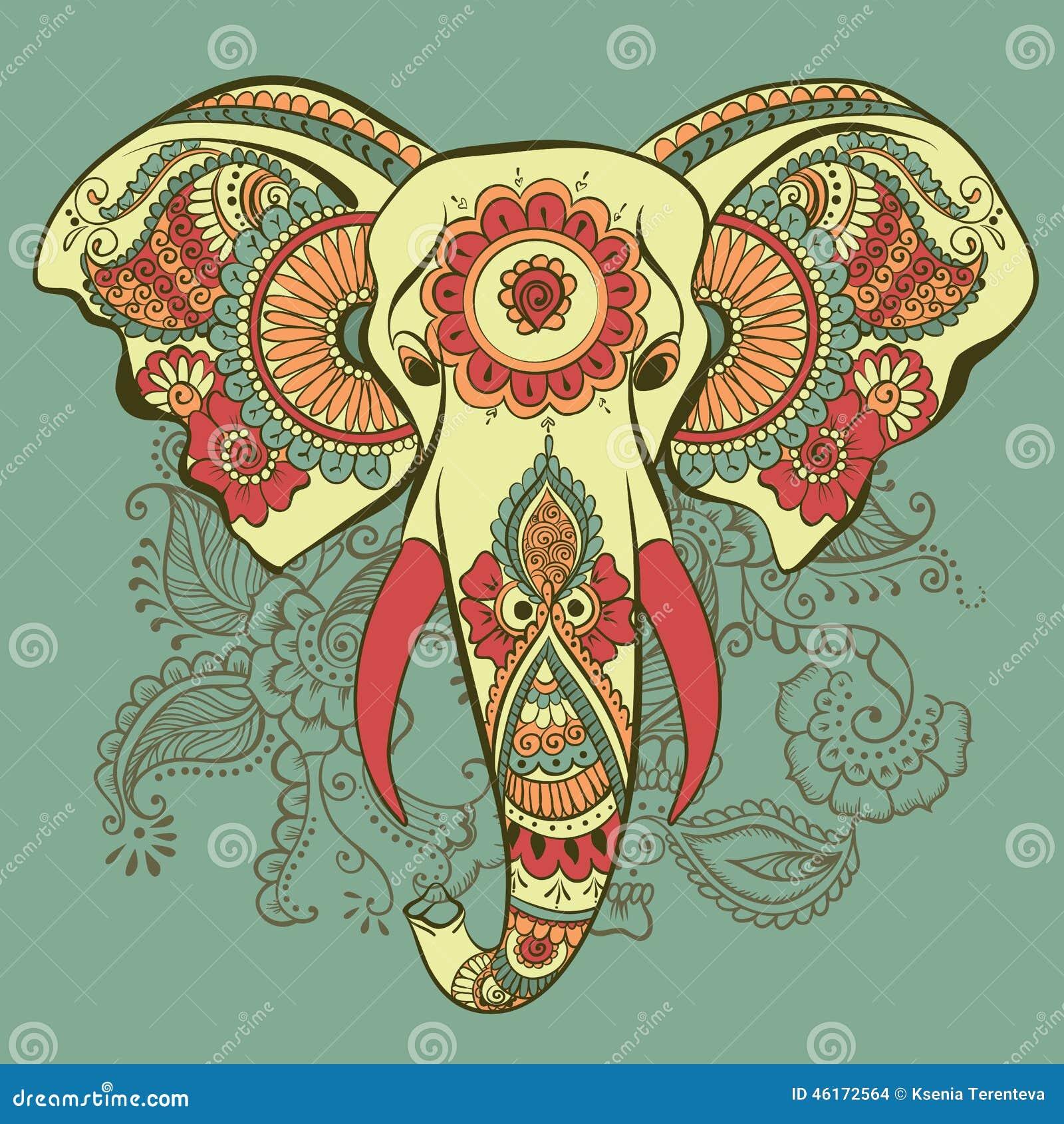 Индийский узор слон
