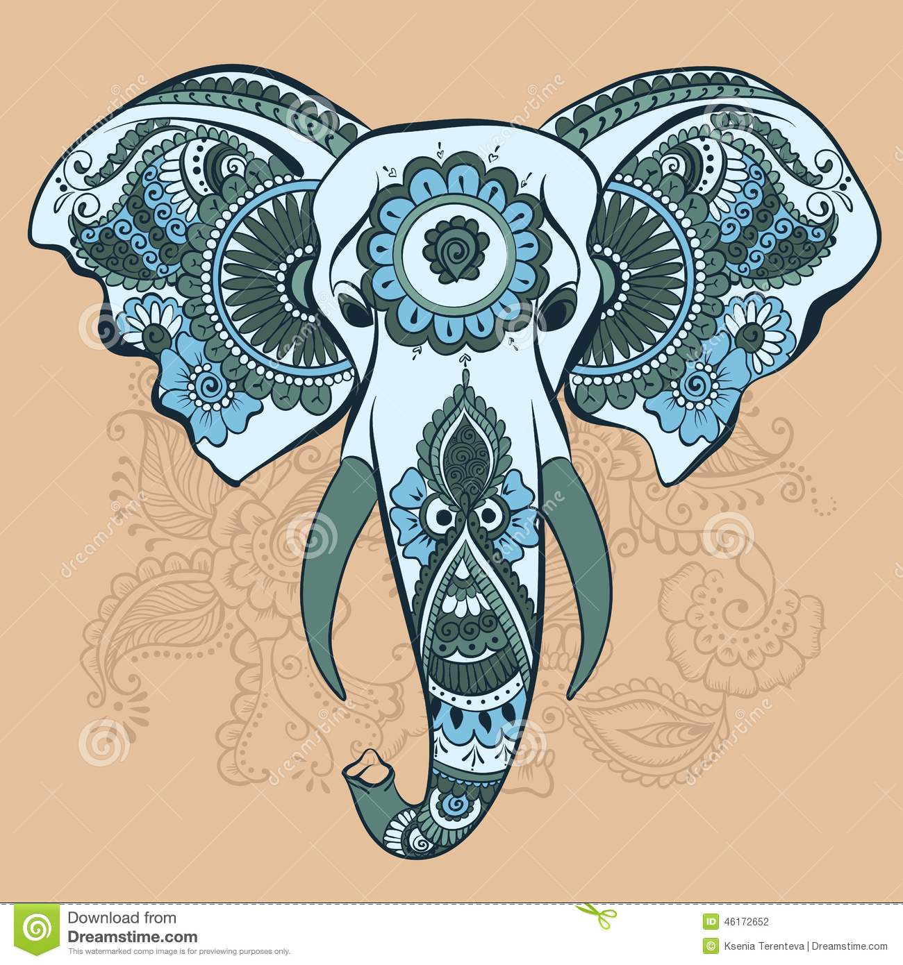 Free Coloring Pages Of Henna Elephant