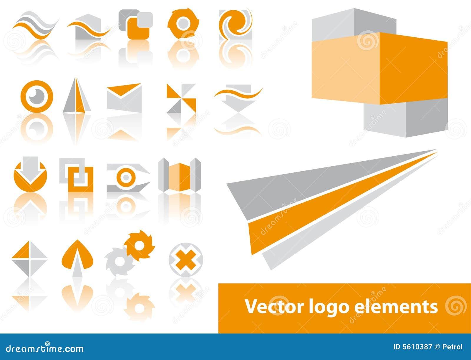 Vector embleemelementen