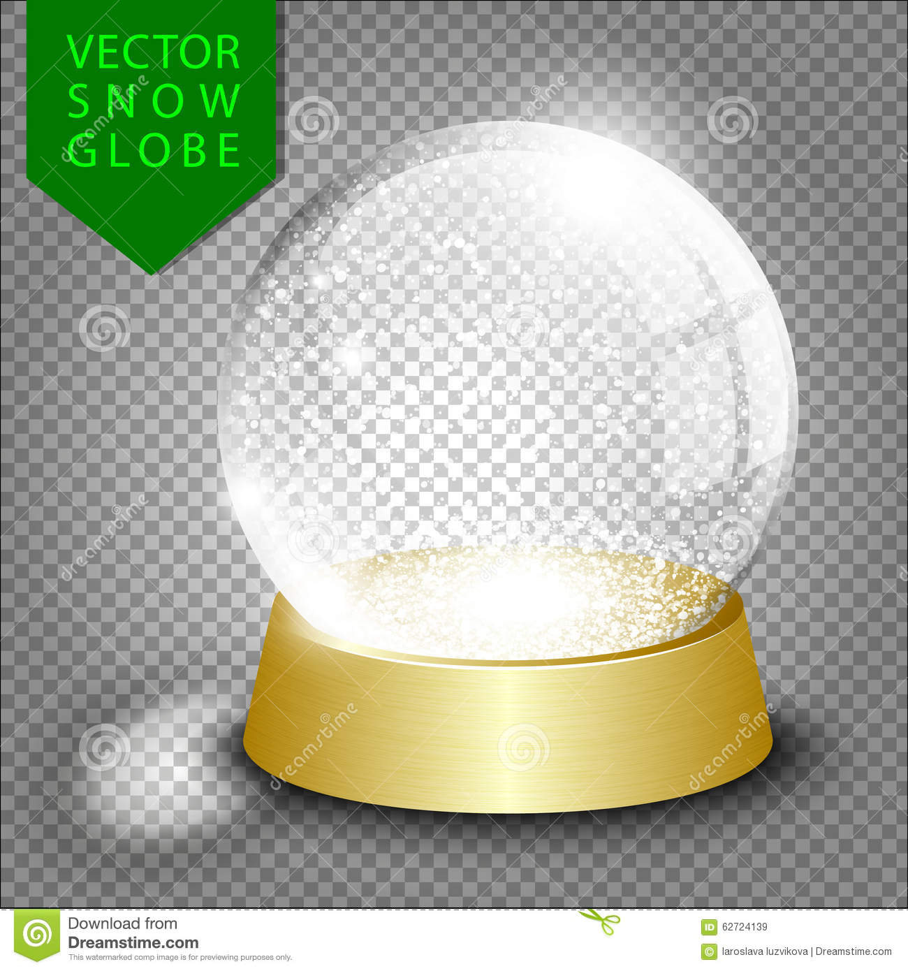 vector empty christmas snow globe stock vector illustration of