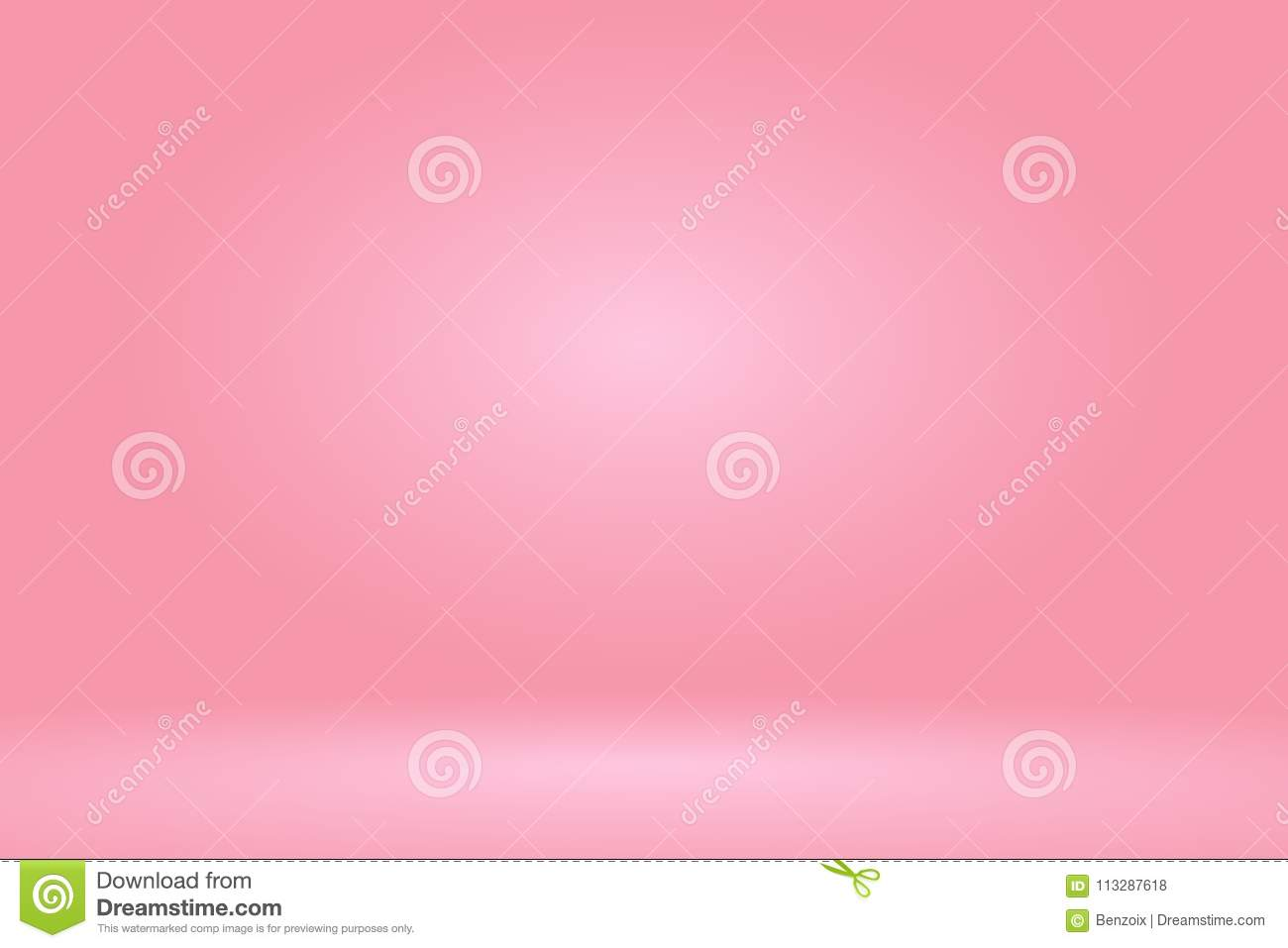 Vector :Empty pastel peach studio room background ,Template mock up for display of product,Business backdrop
