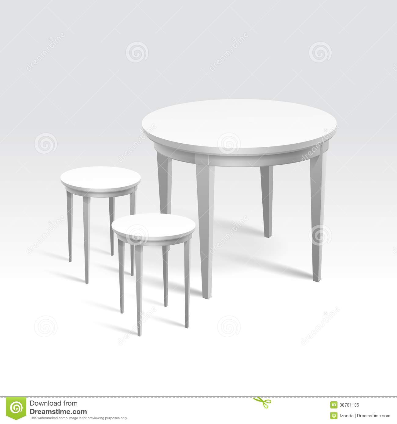 Vector Empty Round Table With Two Chairs Stock Illustration ...