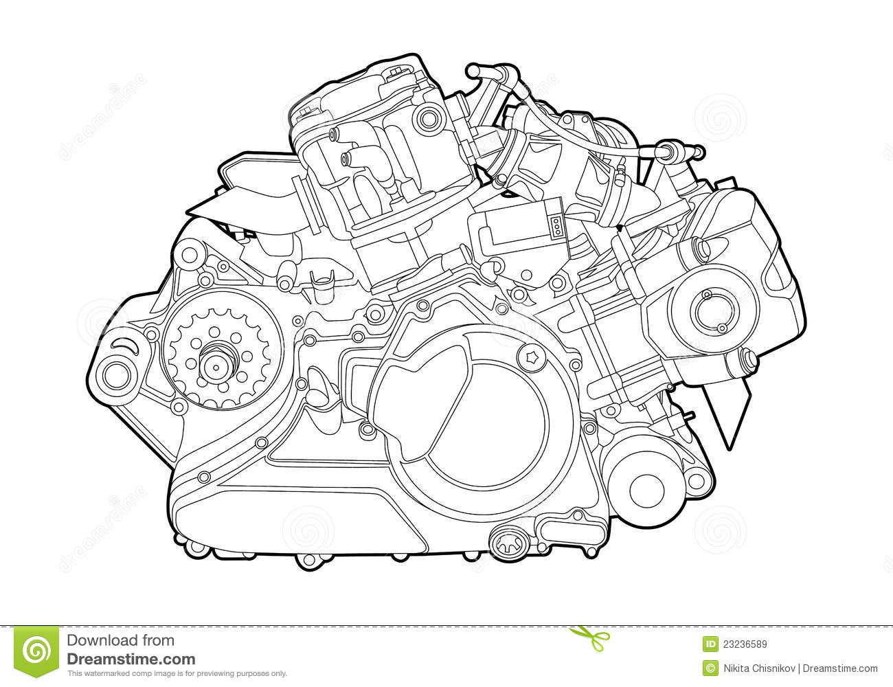 Vector Engine Royalty Free Stock Images Image 23236589