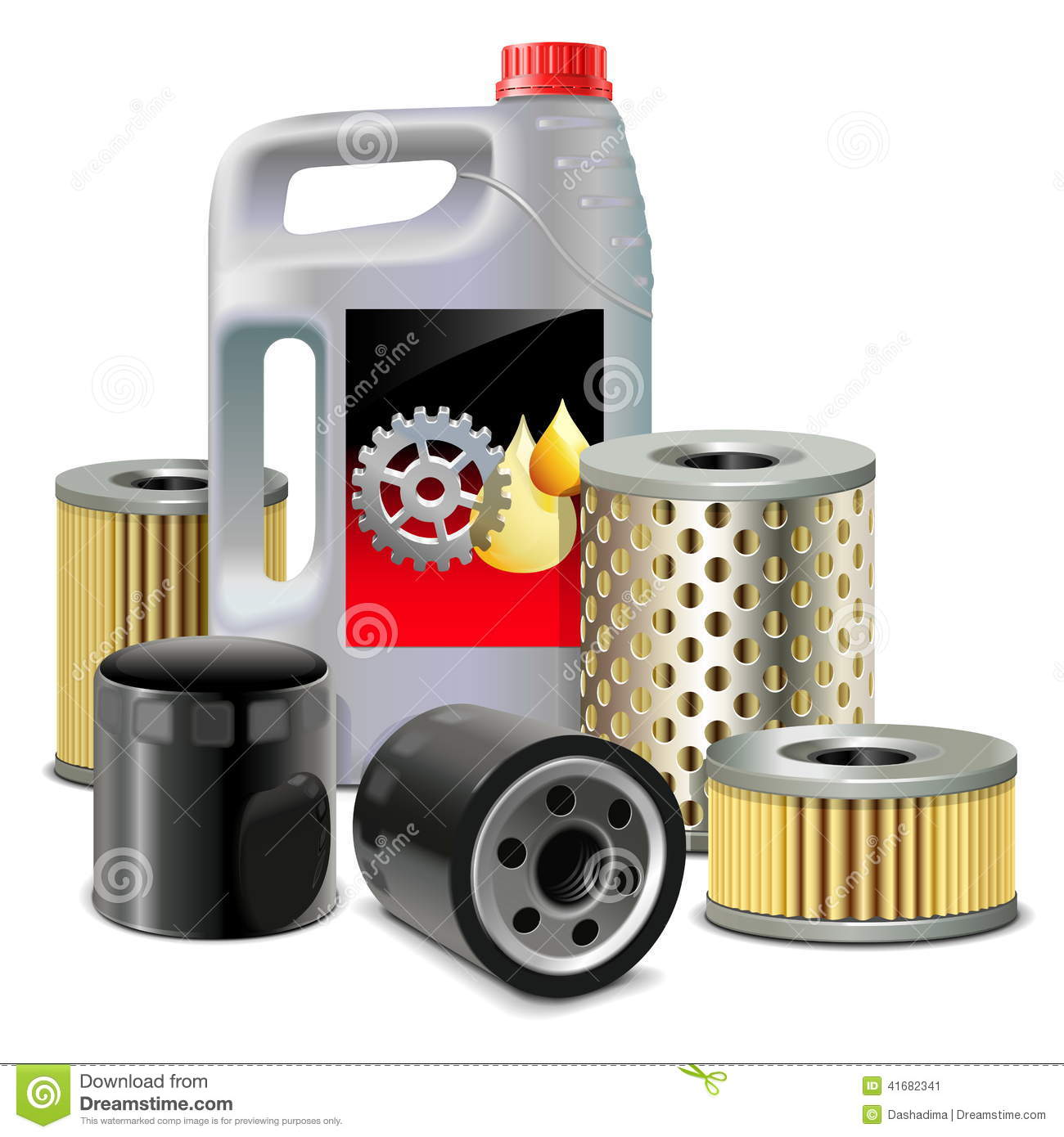 Vector Engine Oil And Filters Stock Vector Image 41682341