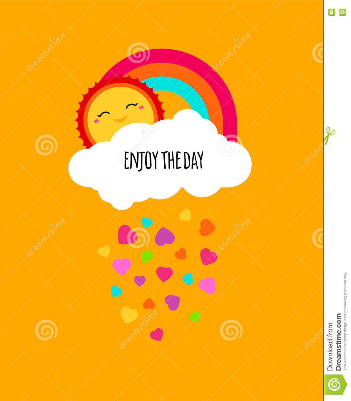 Vector Enjoy Every Day Quote Poster. Positive Motivation Concept ...