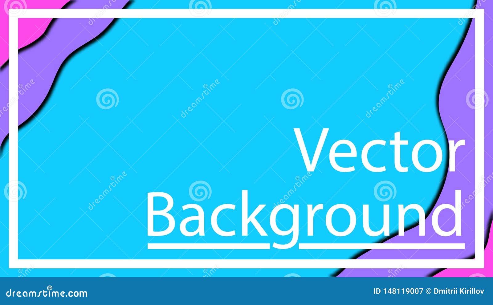 Vector Entwurf f?r Fahnendarstellungen, -flieger, -Poster und -einladungen Drei Farbeschablonen-Zusammenfassungshintergrund