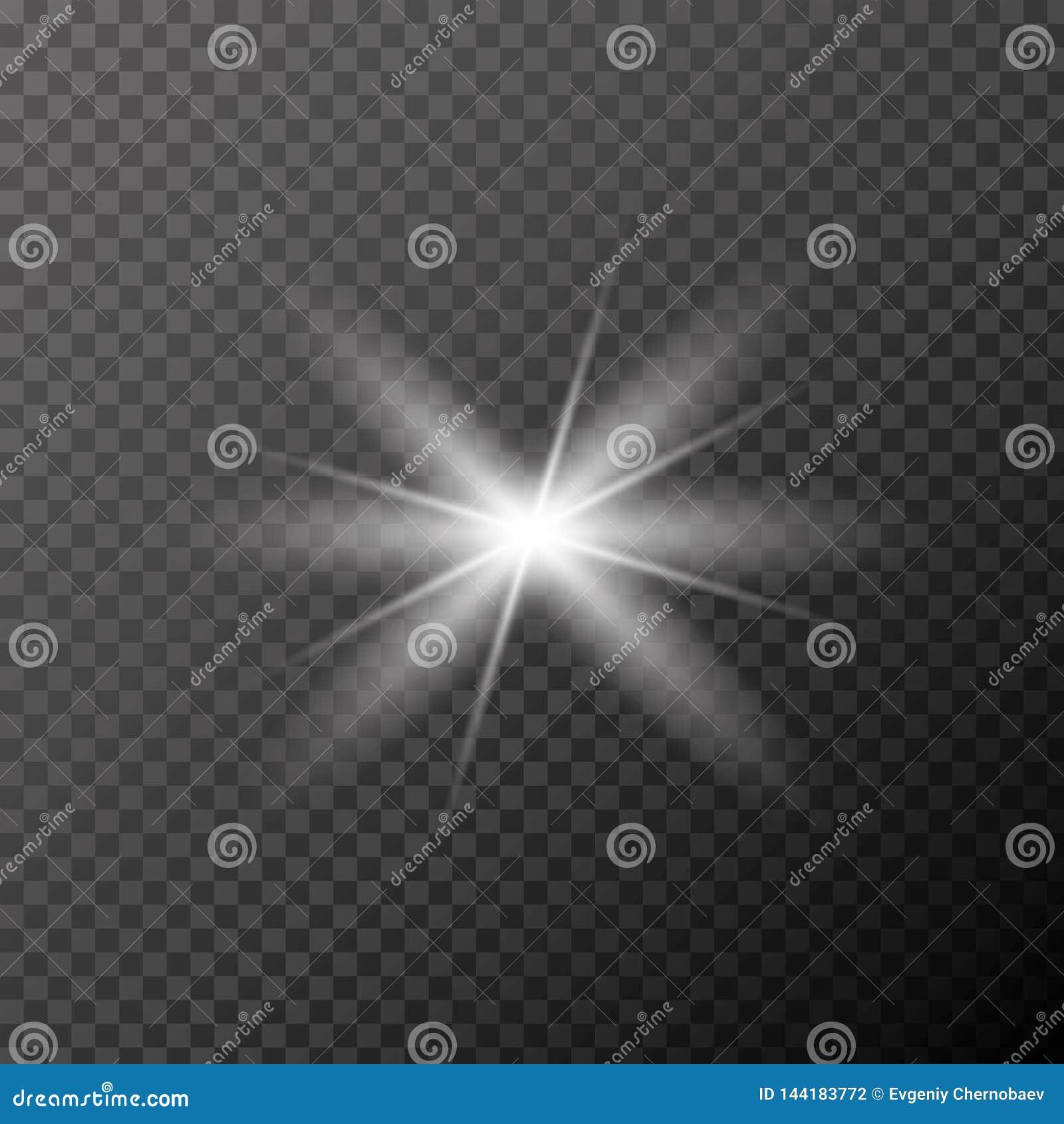 Vector eps10 del resplandor Ligero de destello, vector eps10 de los rayos del sol efecto del haz Blick de los rayos de Sun