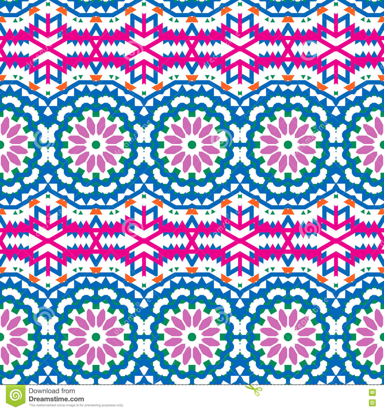 Vector ethnic colorful bohemian pattern
