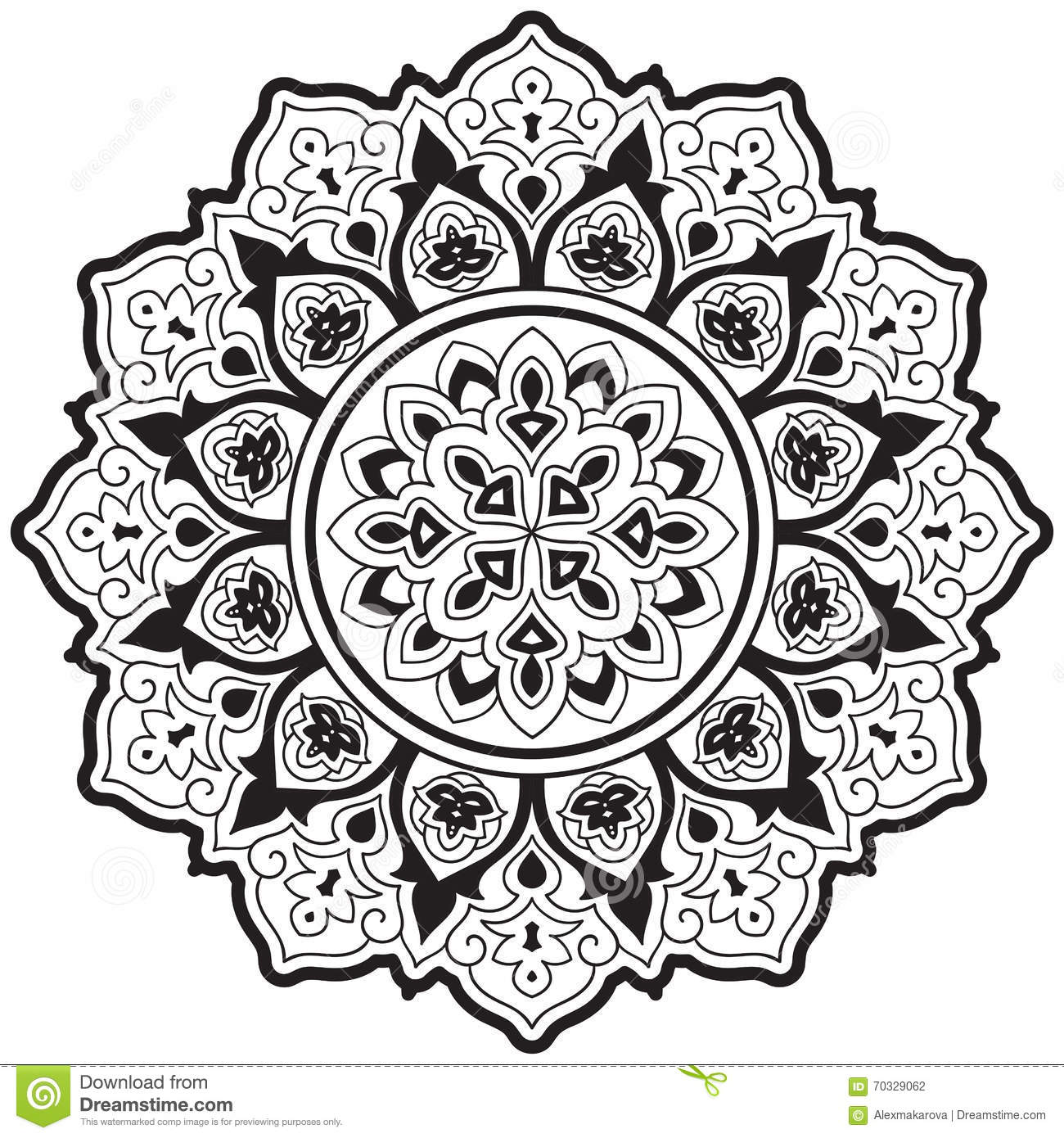 Vector Ethnic Mandala Stock Vector Illustration Of Background