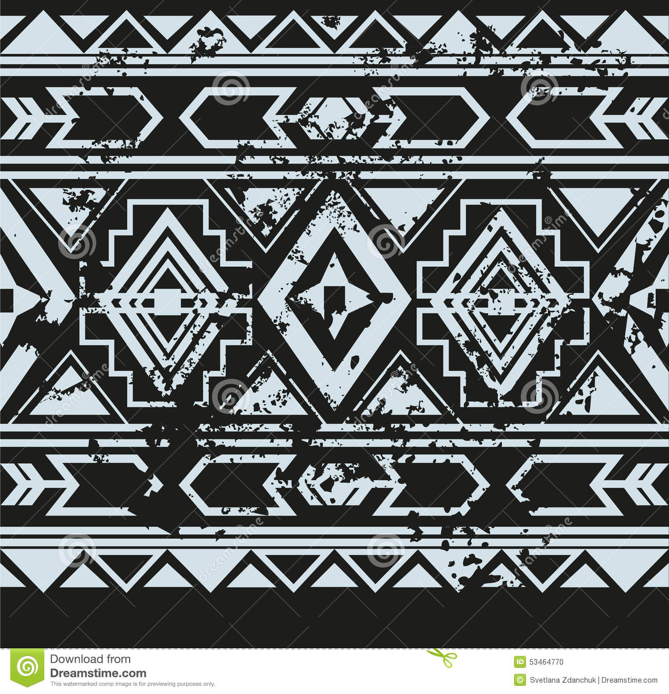 native american pattern black and white