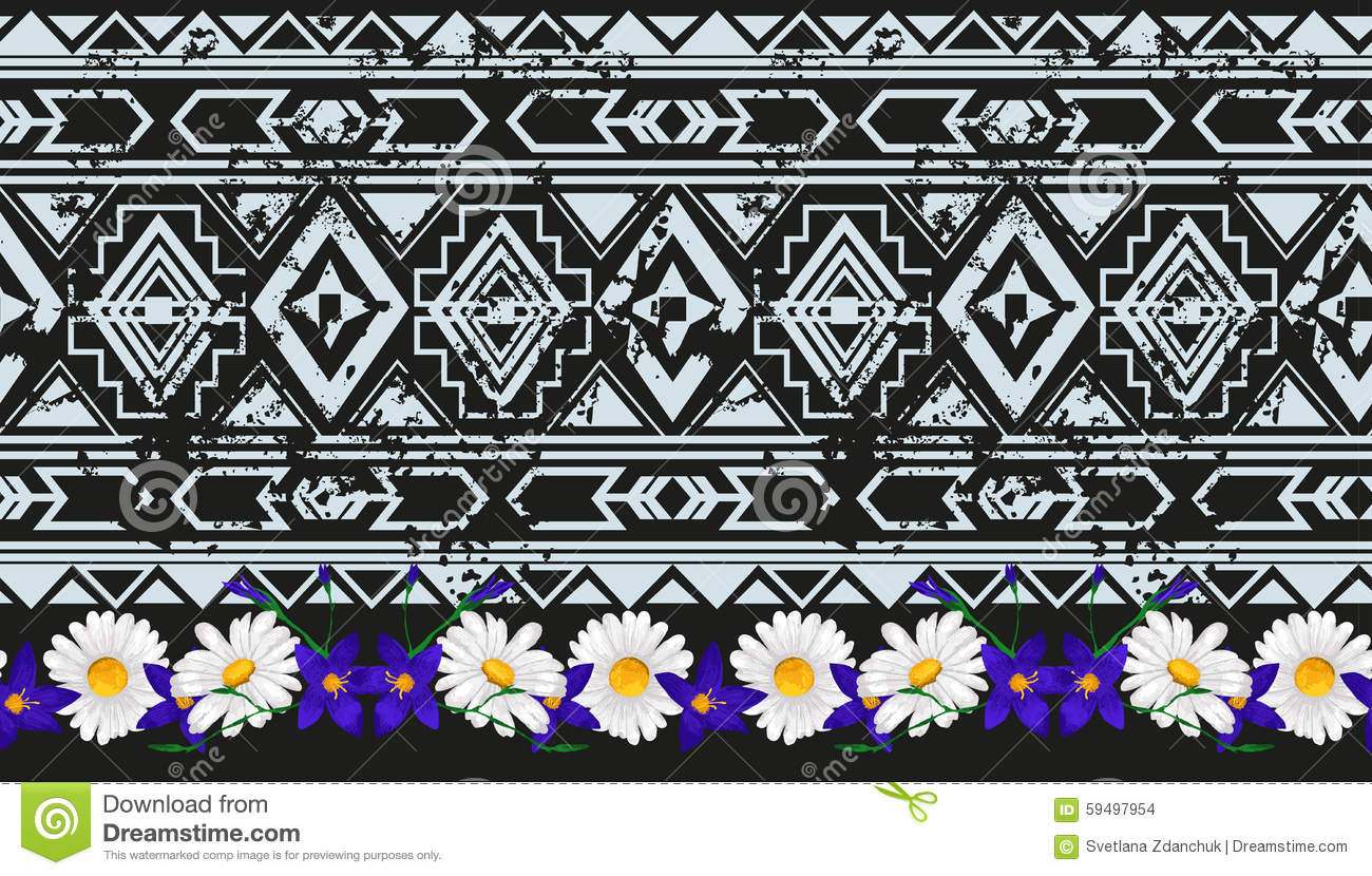 Vector Ethnic Seamless Pattern American Traditional