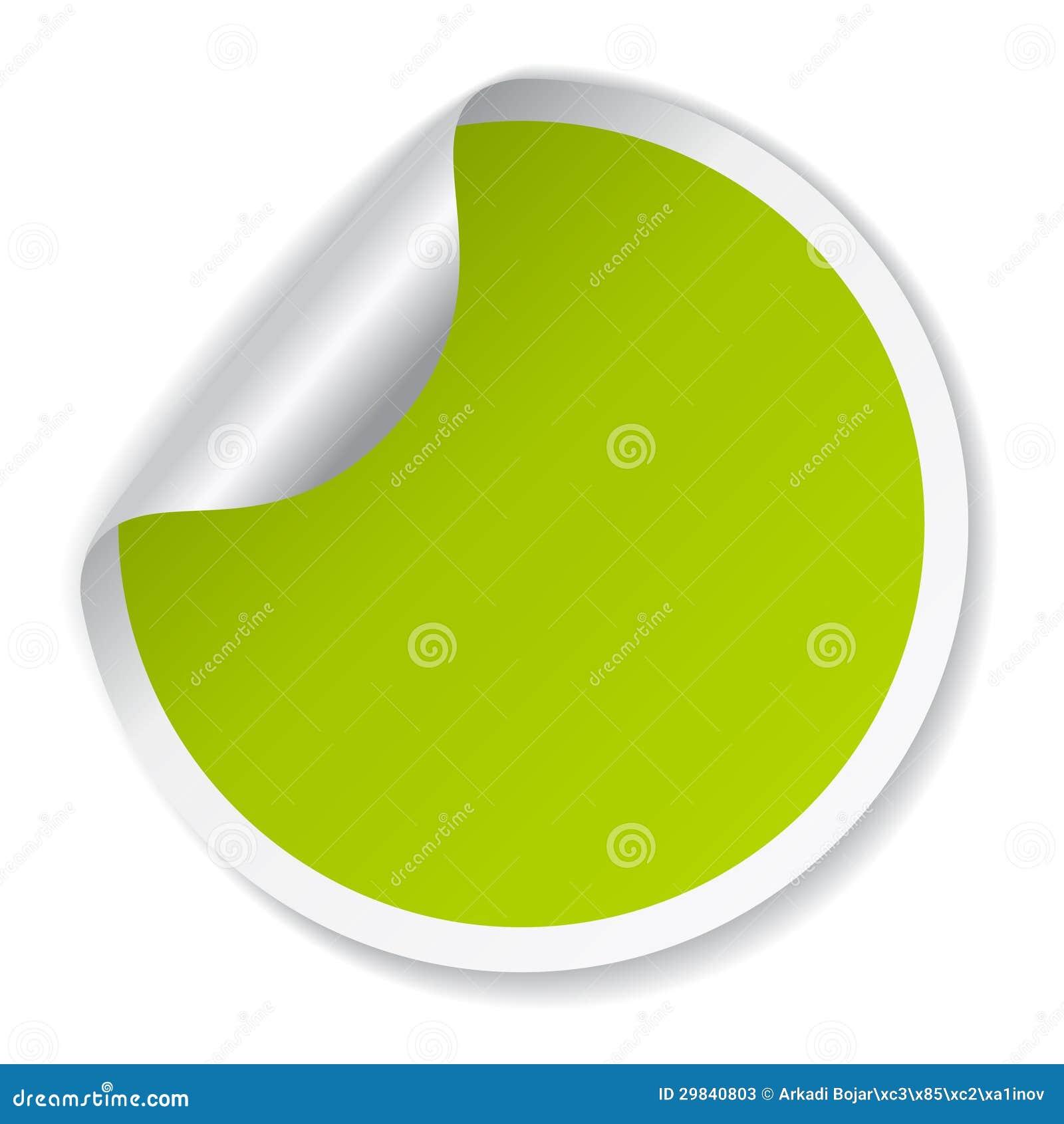 Vector a etiqueta verde