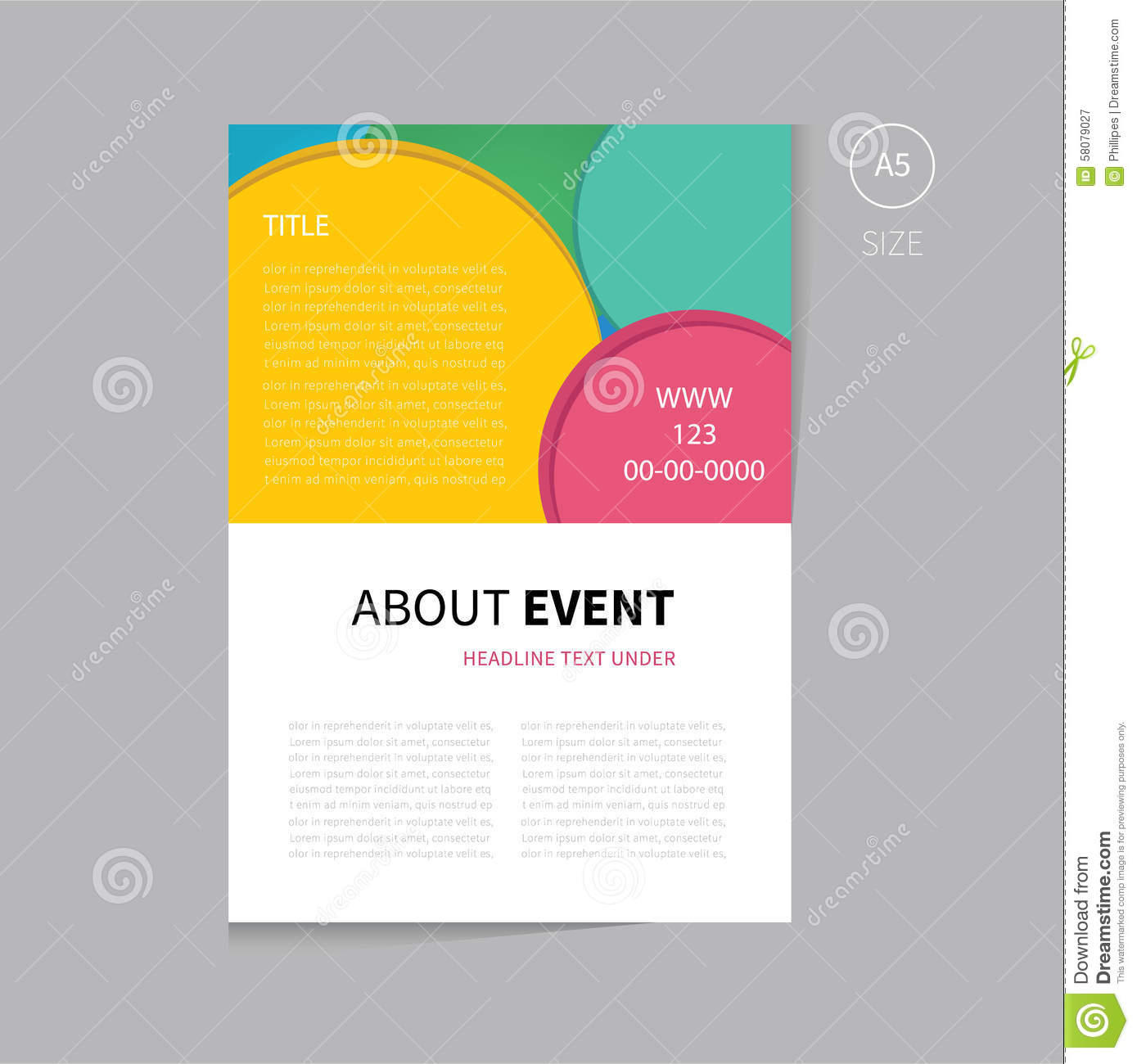 Vector Event Brochure Template Design Vector Image 58079027 – Event Brochure Template