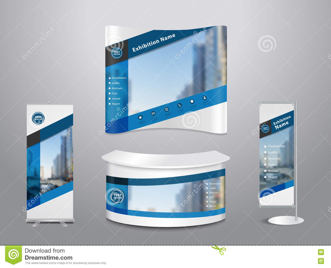 Exhibition Stand Layout Design : Vector exhibition stand with cover abstract geometric background