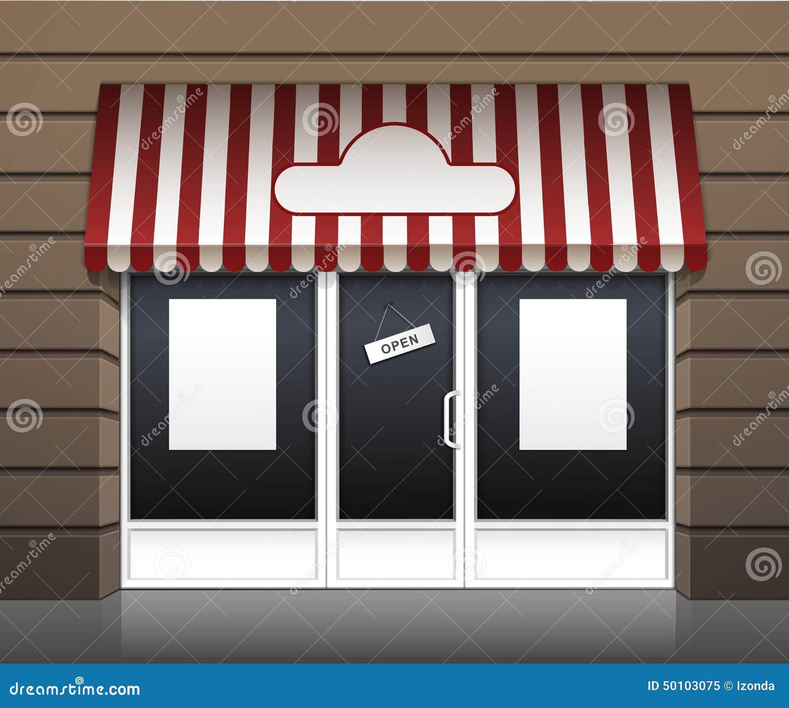 Vector Exterior Restaurant Cafe Fron Vector Illustration