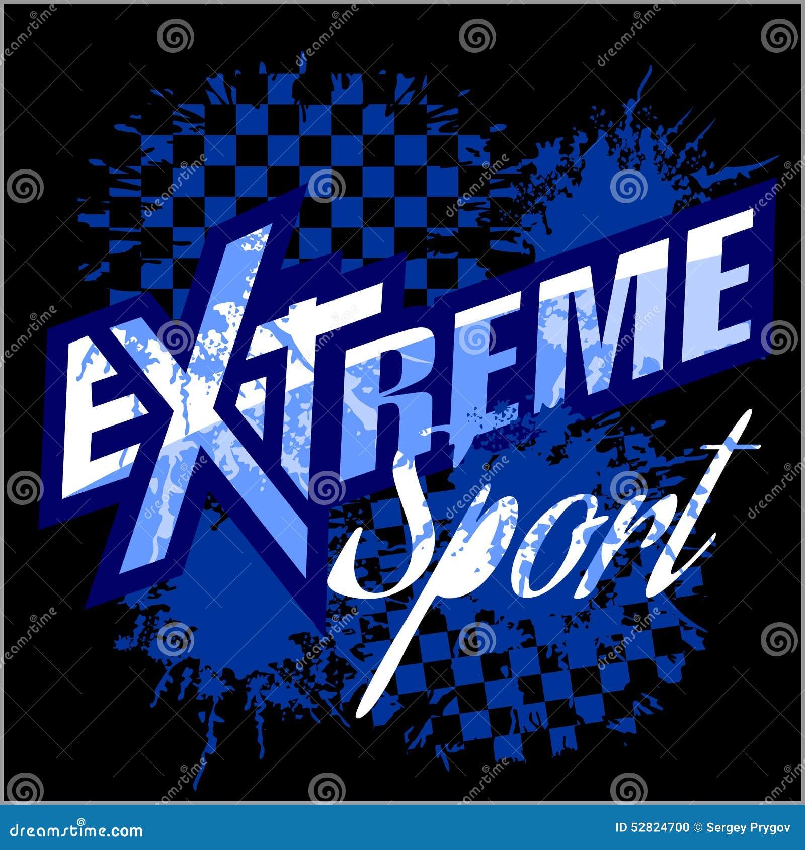 Vector extreme sport - vectorembleem voor t-shirt