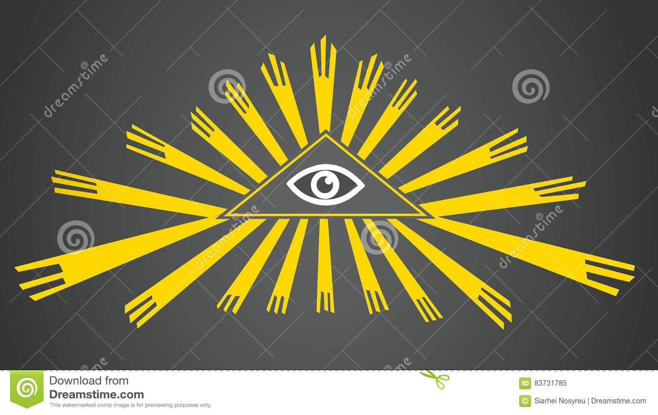 Vector Eye Of Providence The All Seeing Eye Of Golden Rays Sign
