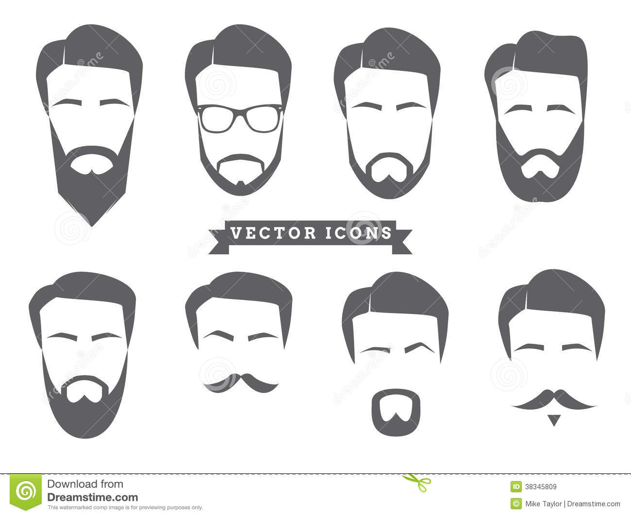 Vector Face Icons Royalty Free Stock Images Image 38345809