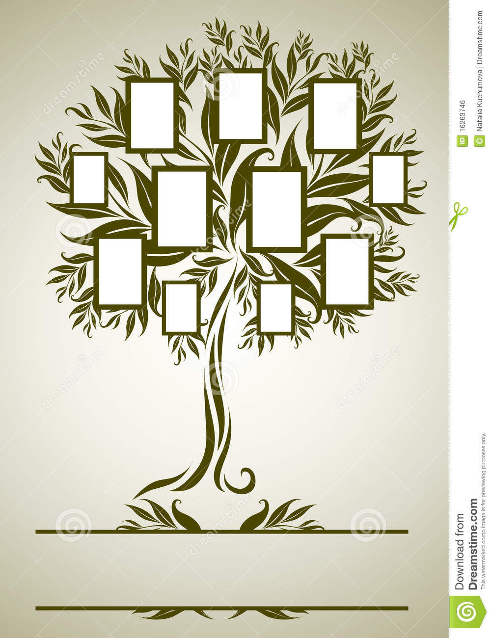Vector Family Tree Design With Frames Royalty Free Stock Image ...