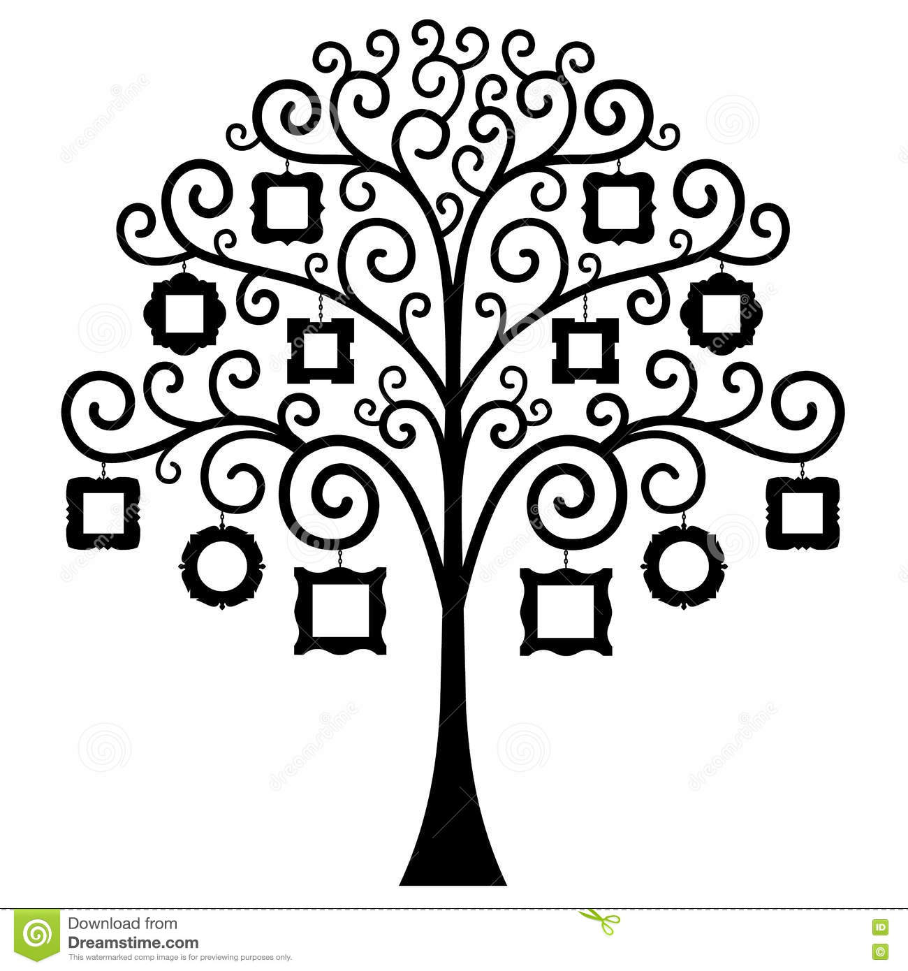 Vector Family Tree Template Stock Image 76657996