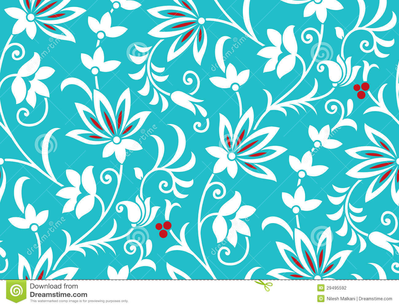 Vector Fancy Floral Wallpaper Stock Photography Image