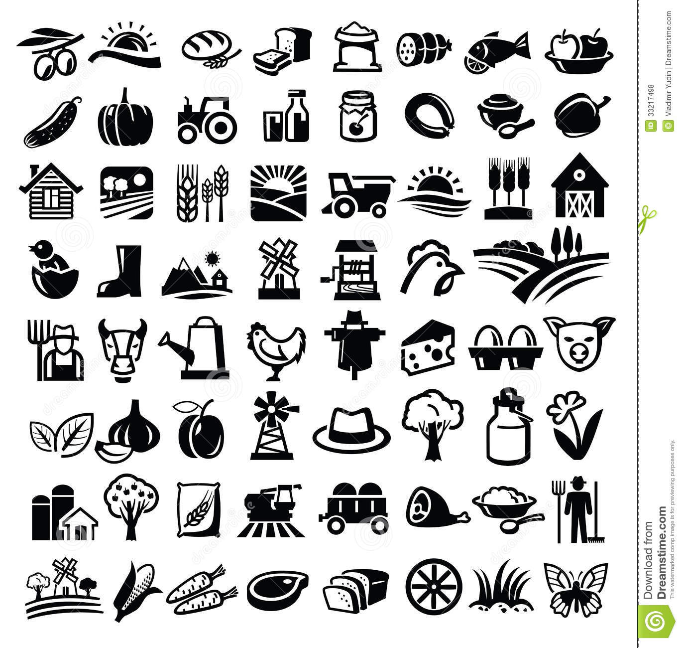 black-and-white-food-icon