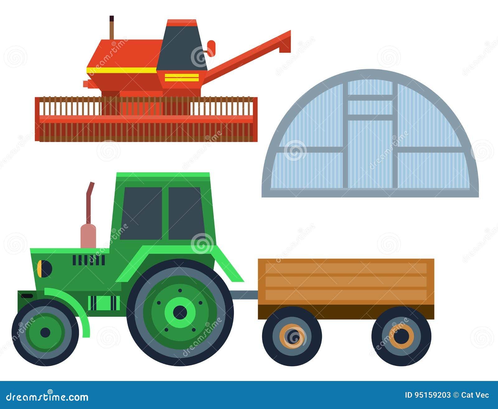 Tractor Cartoon Picker : Harvester cartoons illustrations vector stock images