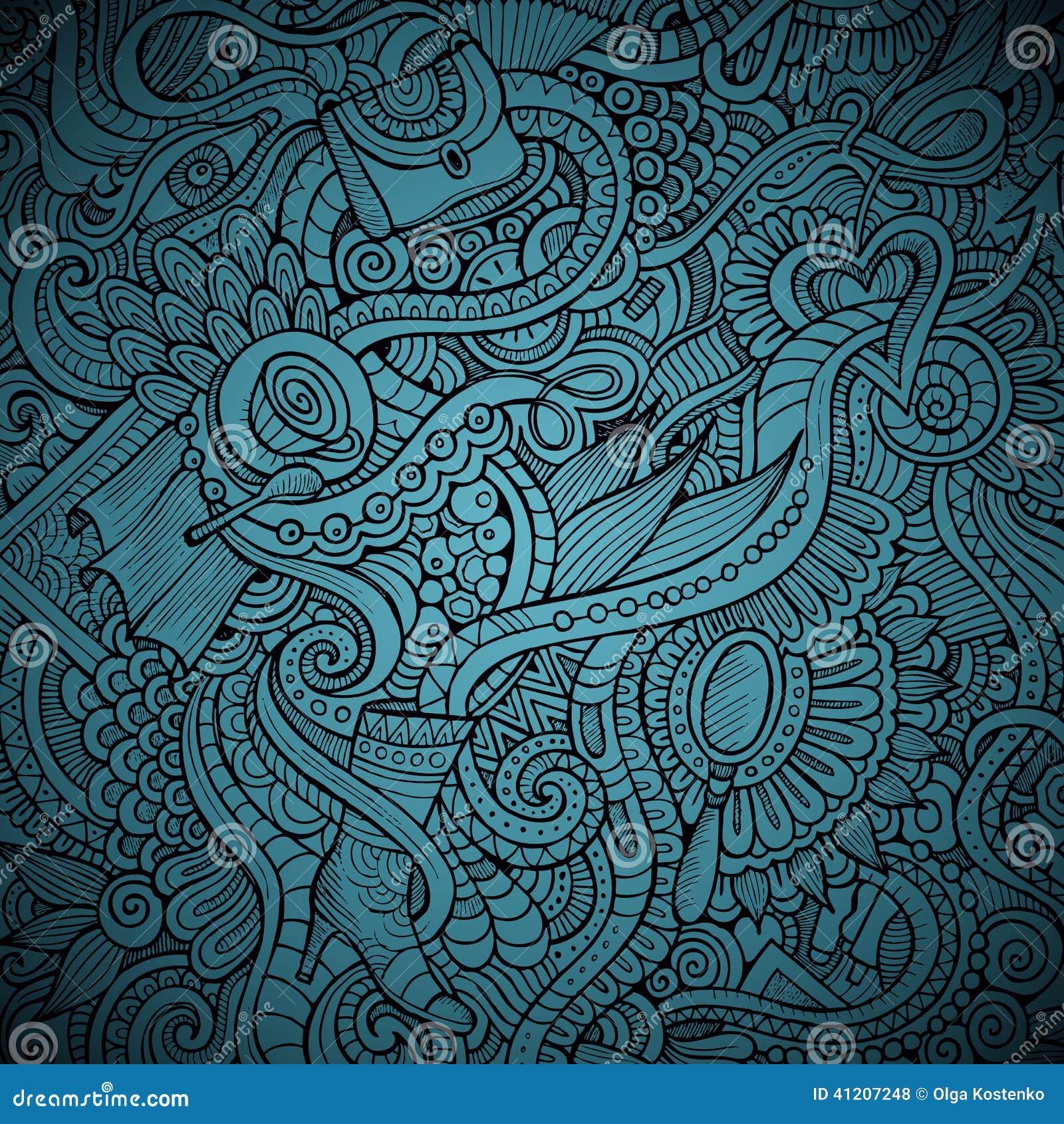 Vector fashion decorative doodles background