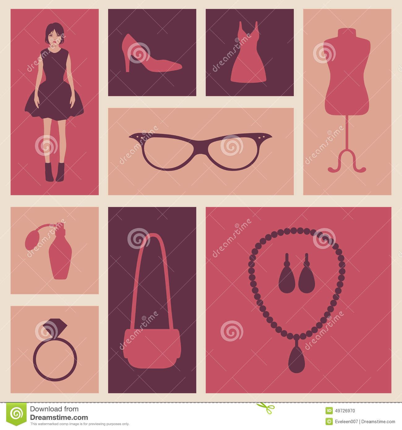 Vector Fashion Icons Stock Vector Image 49726970