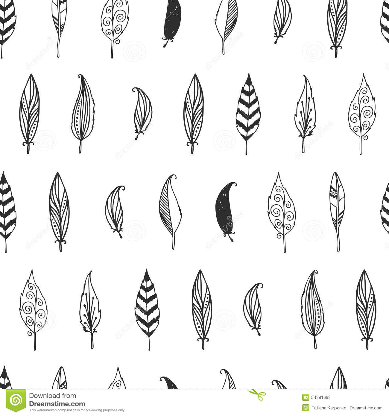 Vector Feather Background Retro Pattern