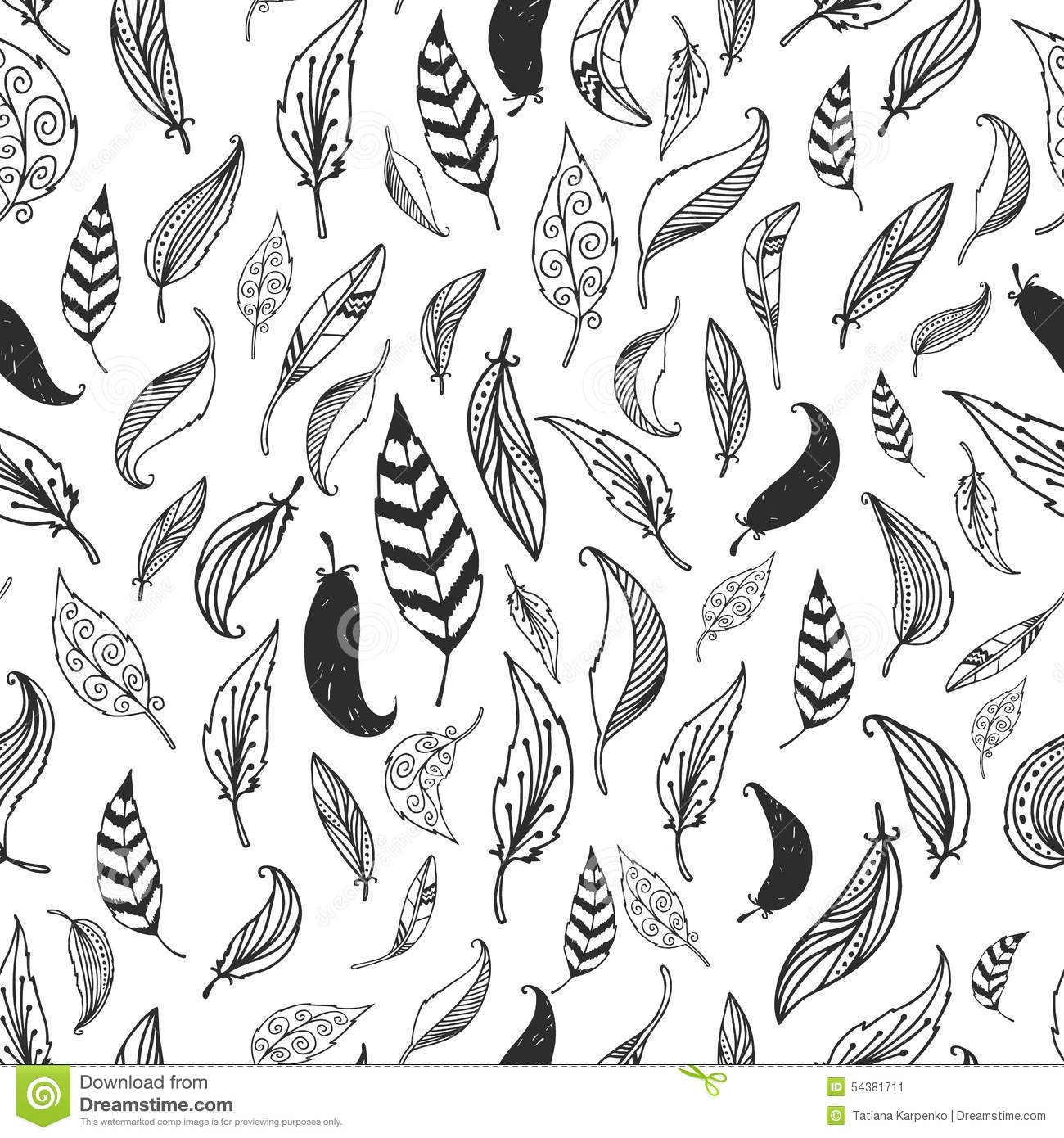 Vector Feather Background Retro Pattern Royalty Free Illustration