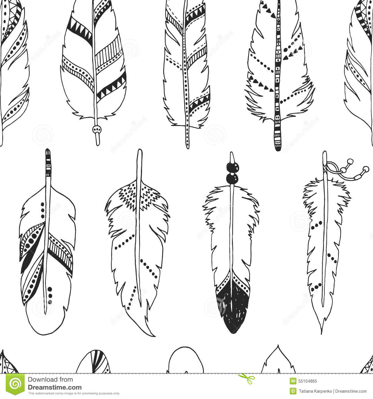 Tribal Feather Pattern