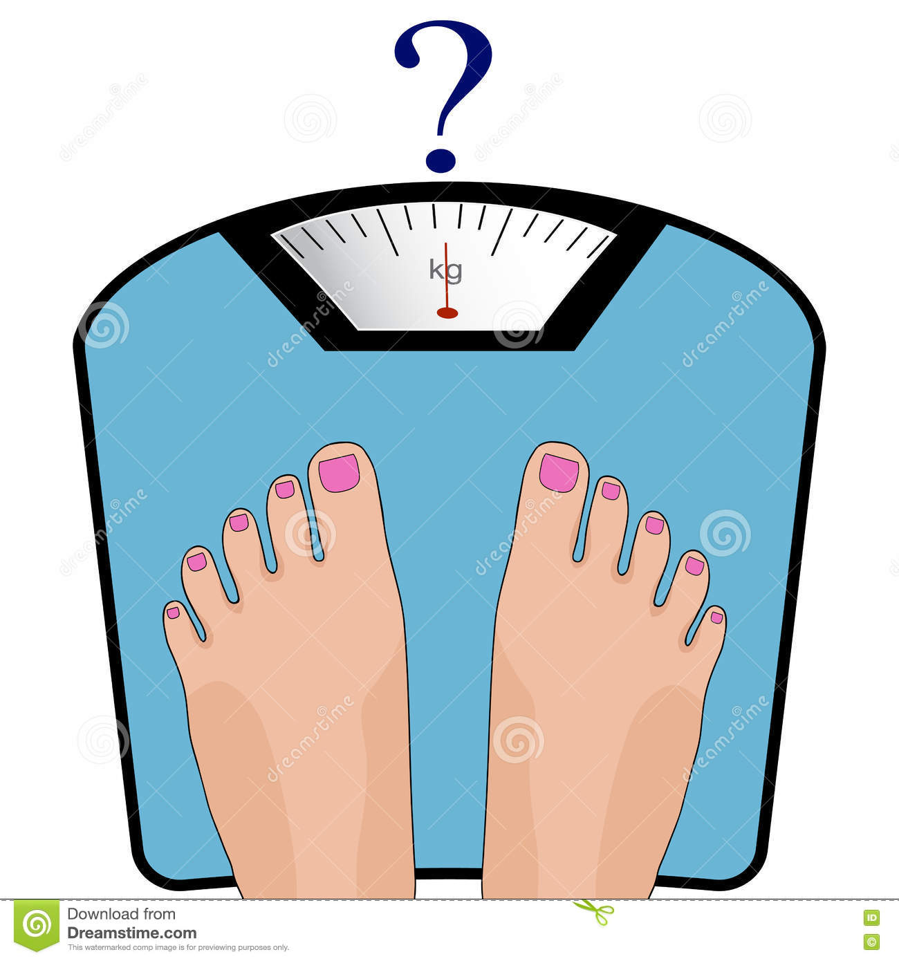 Vector Feet On The Scale Concept Of Weight Loss Healthy