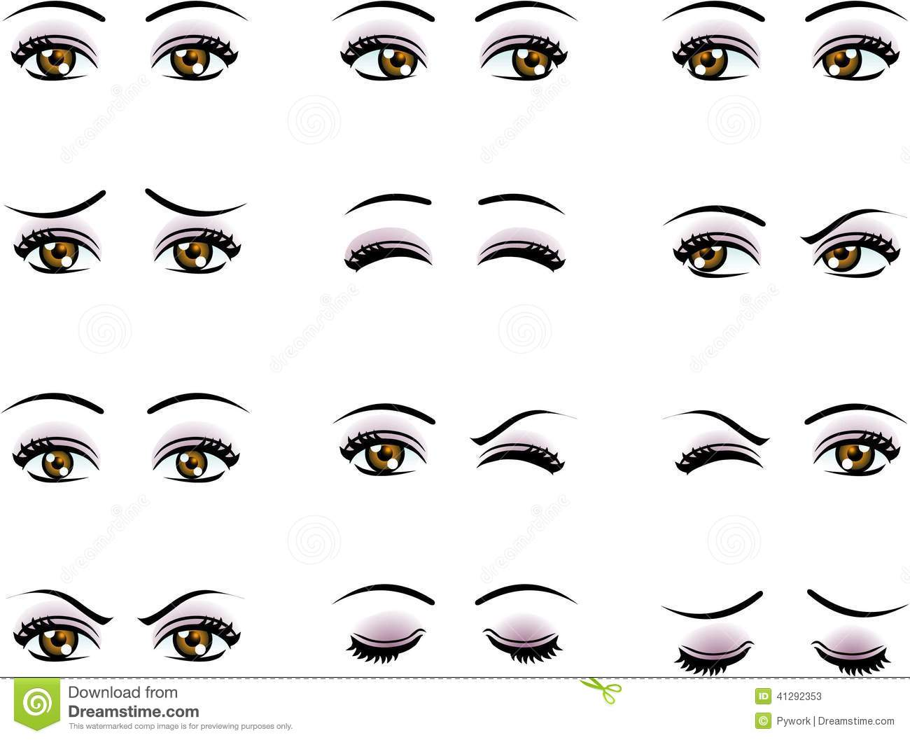 How To Draw Female Eyes Side View