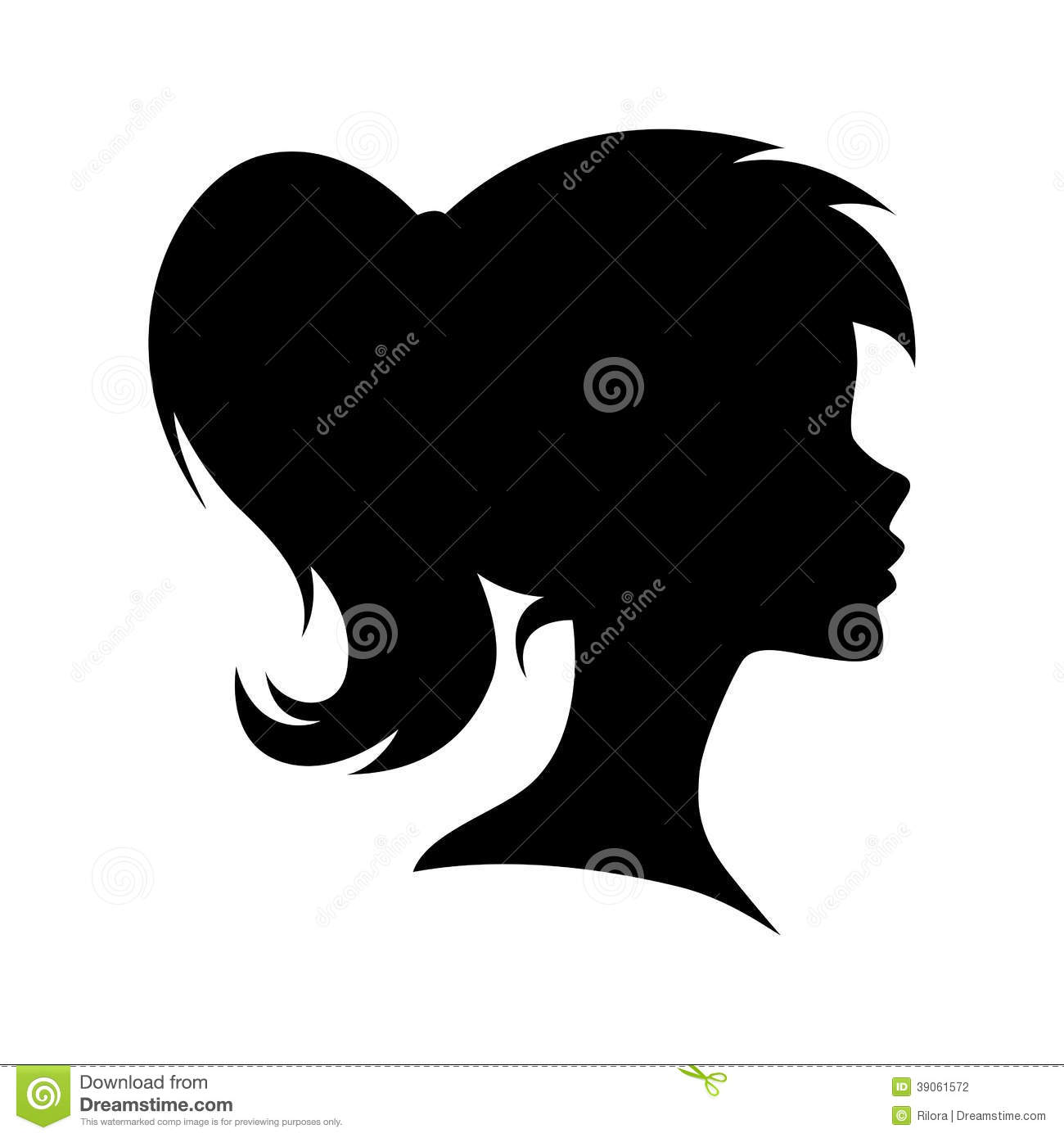 vector female head silhouette