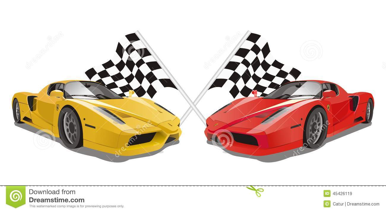 Vector Ferrari Enzo With Flags As Background Editorial Stock Image Illustration Of Banner Automobile 45426119