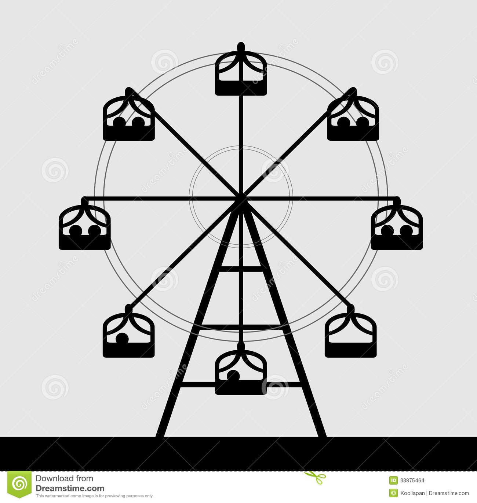 Vector of ferris wheel black Ferris Wheel Clip Art Black And White