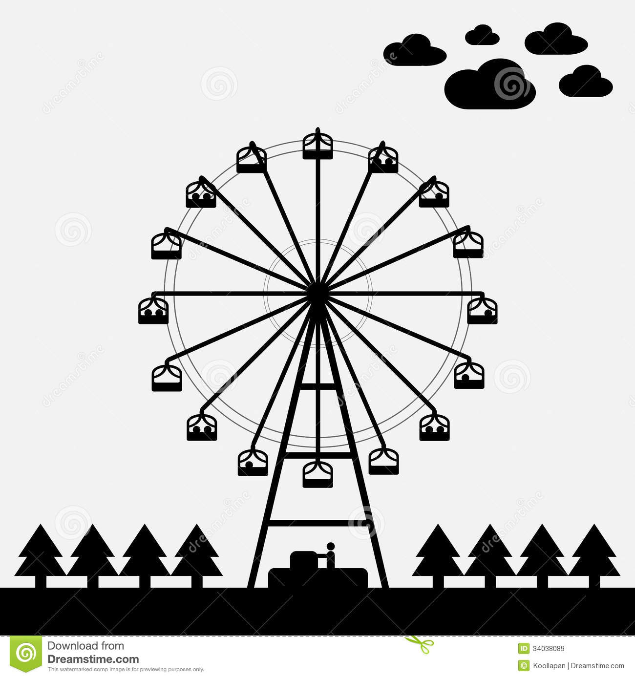 Vector of ferris wheel stock illustration. Image of park ...