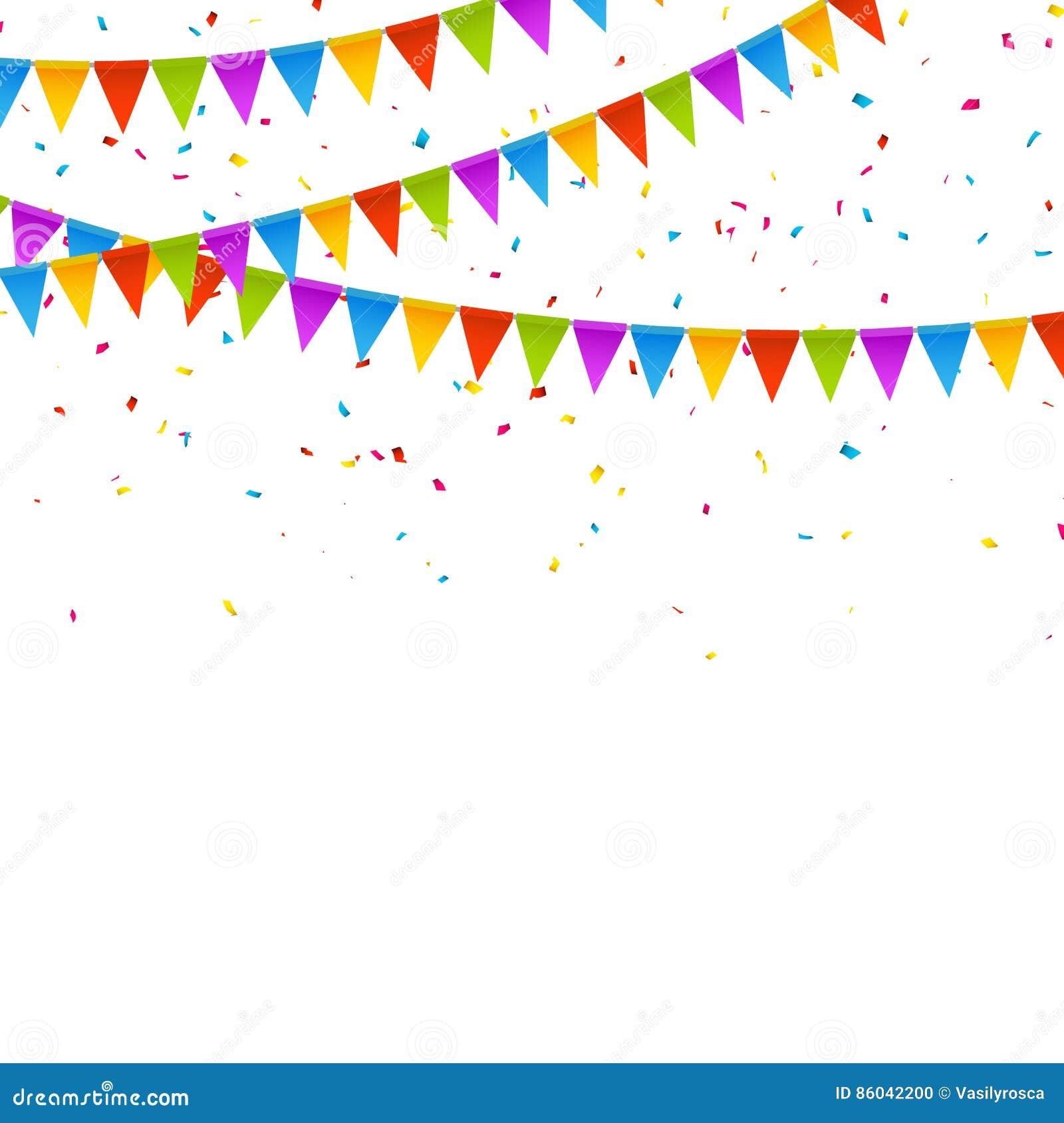 vector festive card with confetti  party invitation design