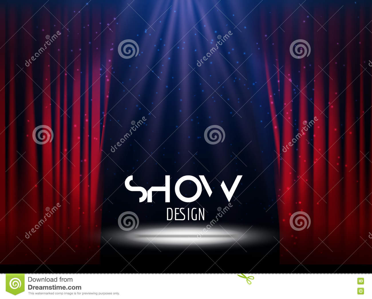 Vector Festive Design With Lights Poster For Concert