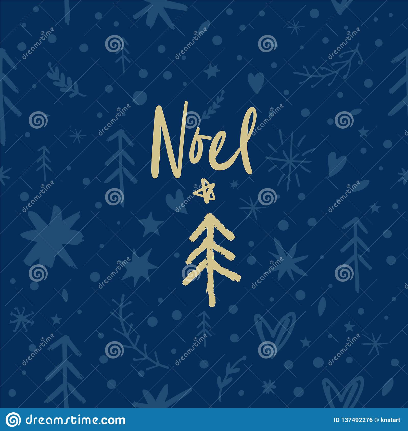 Vector festive Noel pattern, ornament, Christmas and New Year theme