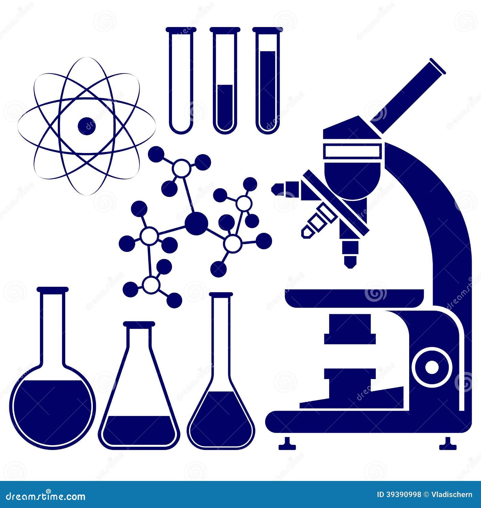 Vector fijado iconos de la ciencia y de la qu mica for La quimica en la gastronomia